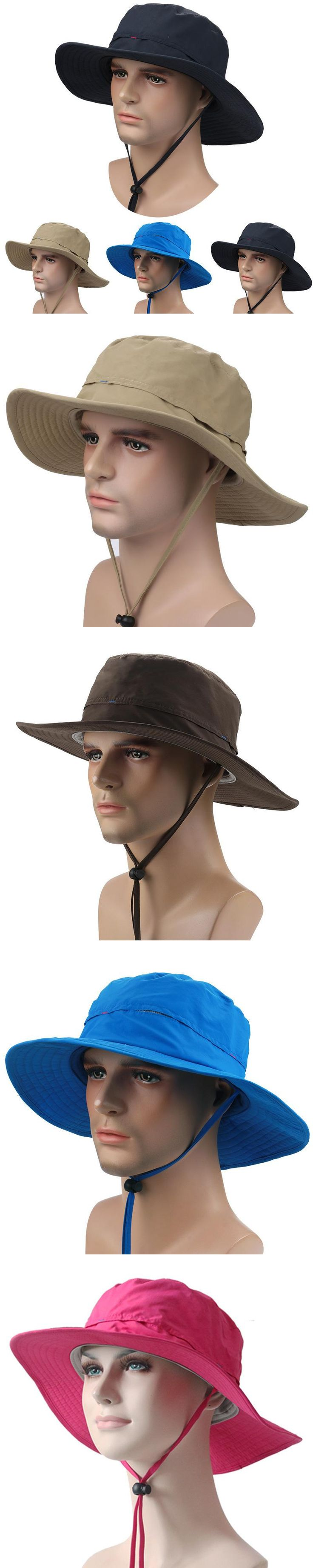 Outdoor Men Caps Summer Bucket Hats for women wide Brim Breathable Sun Hat Hiking Fisherman pith helmets Climbing Jungle Cap