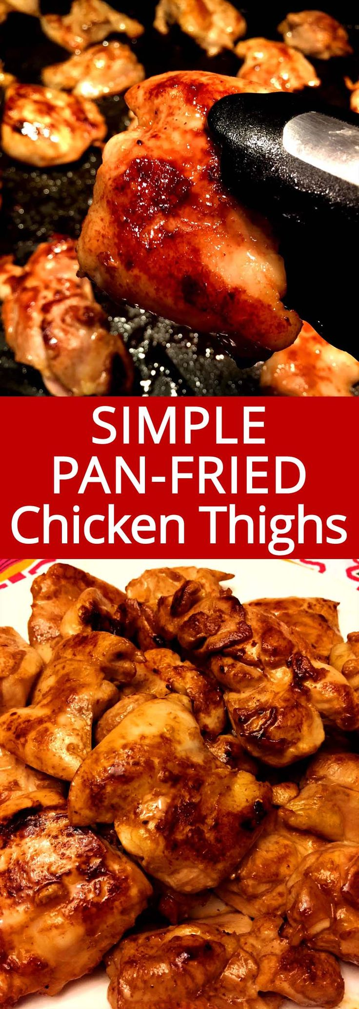 Easy Pan Fried Chicken Thighs Recette Recipes To Cook