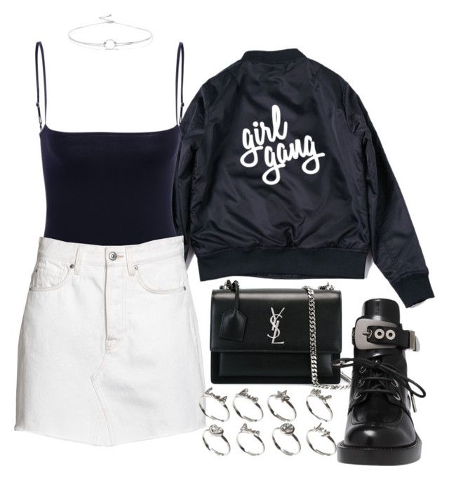 """Untitled #2535"" by mariie00h ❤ liked on Polyvore featuring Yves Saint Laurent, Balenciaga, ASOS and Noir Jewelry"