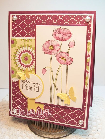 Poppies for my friend: Su Poppies, Scrapbook Cards Papercraft, Friends Cards, Pleasant Poppies Repin, Cards Stampin, Stamps Things, My Friends, Cards Cards Ideas, Cards Poppies