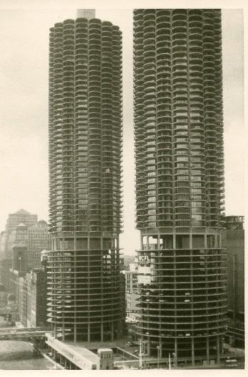 "Original Photo Snapshot of Chicago's Marina City a/k/a ""The Corn Cobs""...  BAMchicago.comCities Aka"