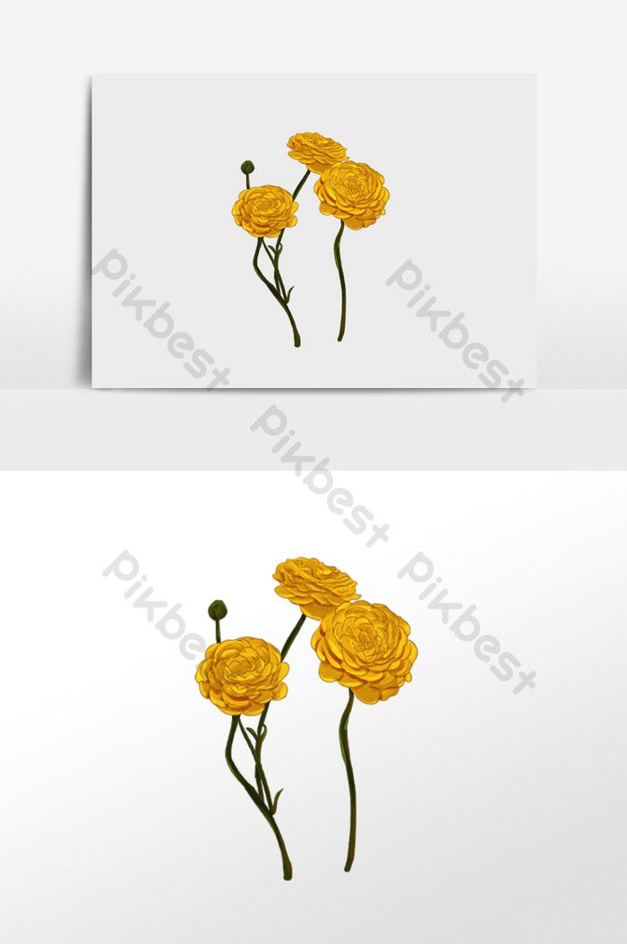 Yellow Flower Illustration Hand Drawn How To Draw Hands
