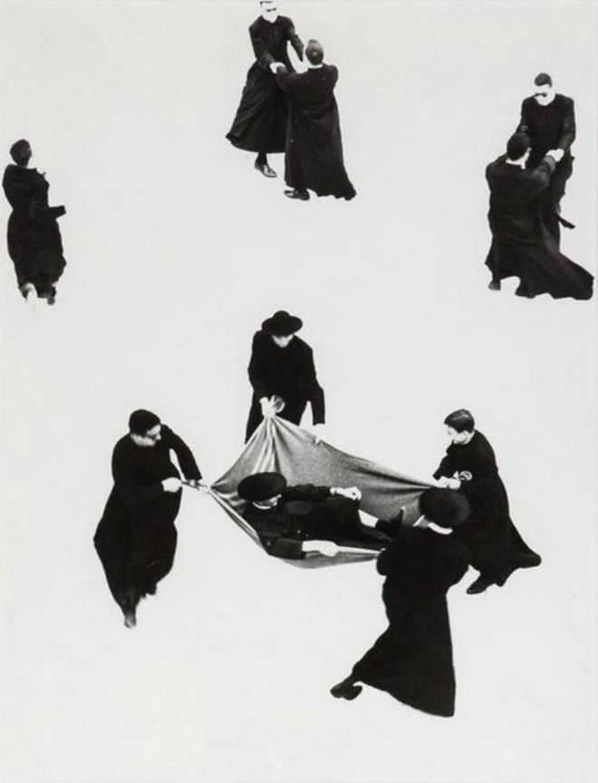 The Priests, Italy,1963, by Mario Giacomelli ~ETS #art #priests #modernitalianart