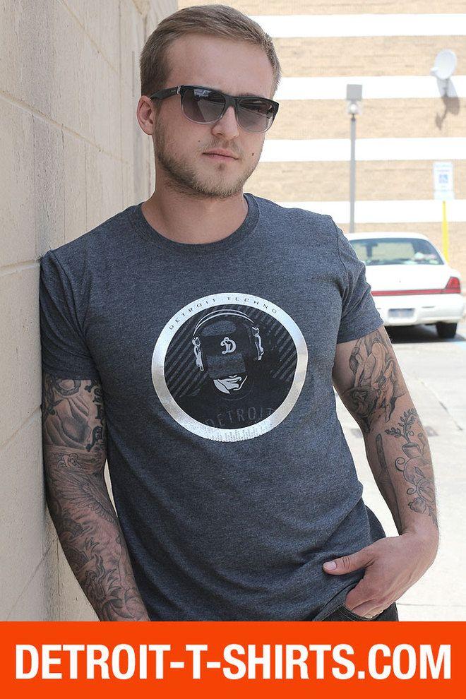 Detroit T-shirts. In Love with Detroit T-Shirt line by Big D L.L.C. - Detroit Techno T-Shirt (Men)  | Detroit T-shirts, $19.95 (http://www.detroit-t-shirts.com/detroit-techno-t-shirt-men-detroit-t-shirts/)