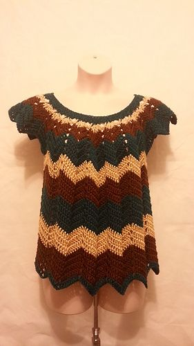 FREE!!  Ravelry: Womens Plus Size Chevron Top pattern by Crystal Doedtman