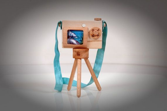 Personalized Wooden Toy Camera and Mini Photographic by beigebois, €25.00