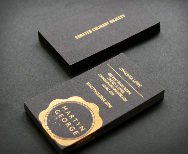 Business card black & gold- very classy . Love the off centered bleed placement of the logo. #businesscarddesign #businesscard #branding