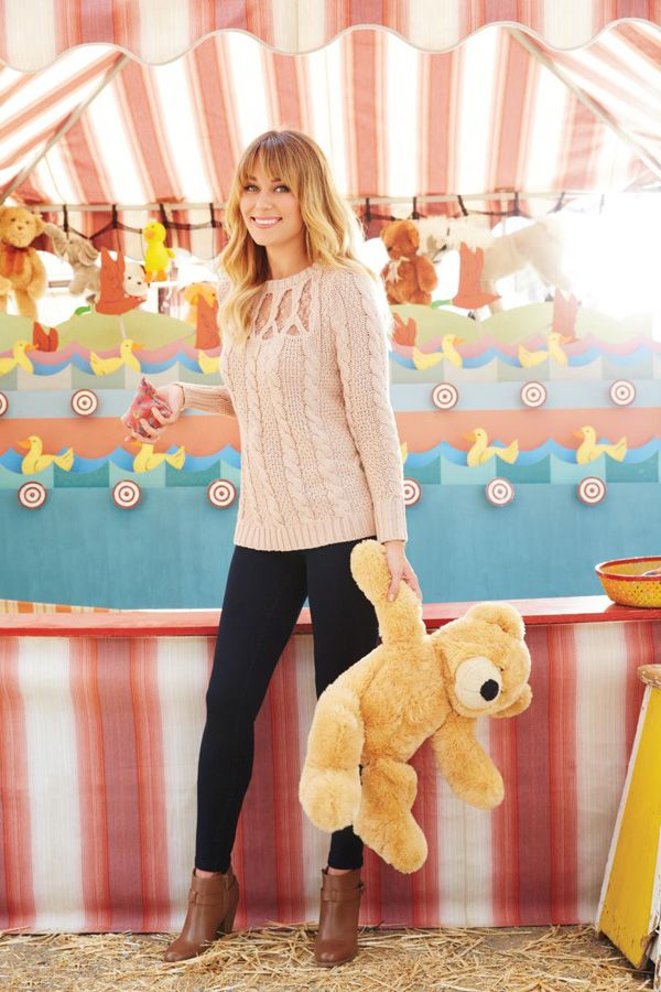 circus themed photoshoot {pretty}Lc Lauren Conrad, Fashion Models, Chic Peek, Teddy Bears, Fall Sweaters, Cable Knit, Fall Styles, Knits Sweaters, Kohls Collection
