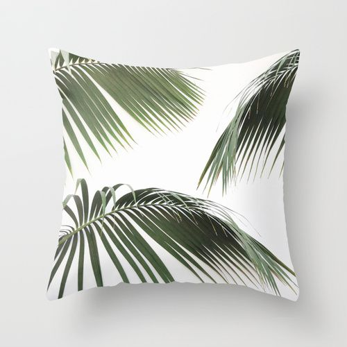Fronds Throw Pillow by me
