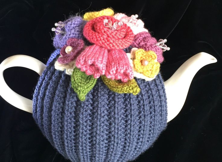 Hand Knitted Tea Cosy, Tea cosies, Tea Cozy (4-6 cup) by RicketyGates on Etsy