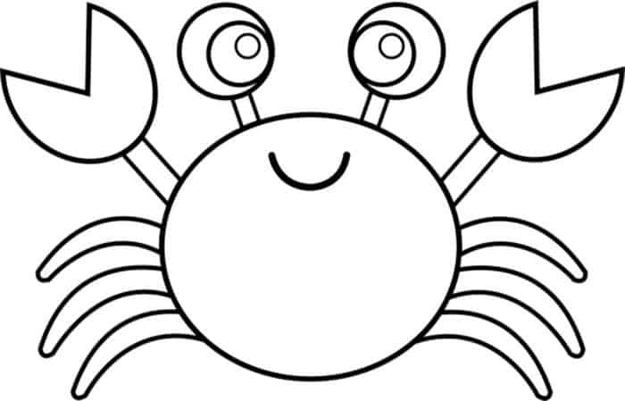 Cute Crab Animal Coloring Pages In 2020 Animal Coloring Pages Cartoon Coloring Pages Fish Coloring Page