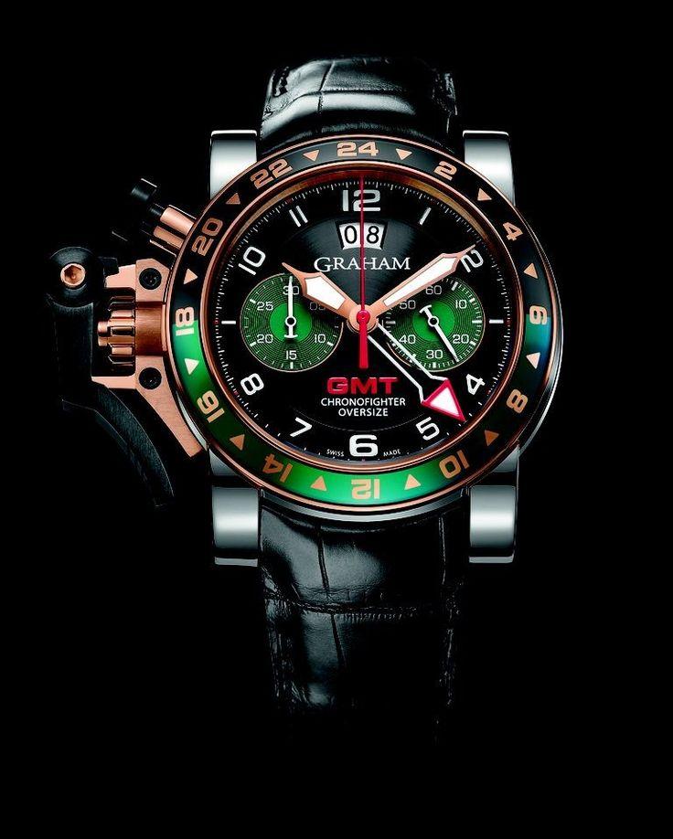 Graham, Chronofighter Oversize GMT RBG Watch http://www.roomofluxury.co.uk/watches/graham-watches/graham-chronofighter-oversize-gmt-rbg.html