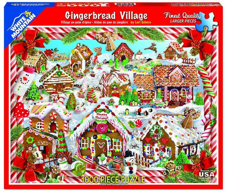 Gingerbread Village (1128pz) 1000 Piece Jigsaw Puzzle