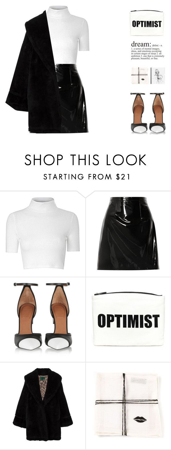 """""""Black And White"""" by vendre-du-reve ❤ liked on Polyvore featuring Glamorous, Christopher Kane, Givenchy, Hayden-Harnett, Jean-Paul Gaultier and Kelly Wearstler"""