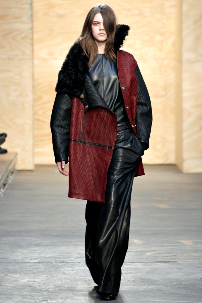 Proenza Schouler Fall 2012. 1980-1995 Costume for Women: this leather coat is oversized as well as broad-shouldered.