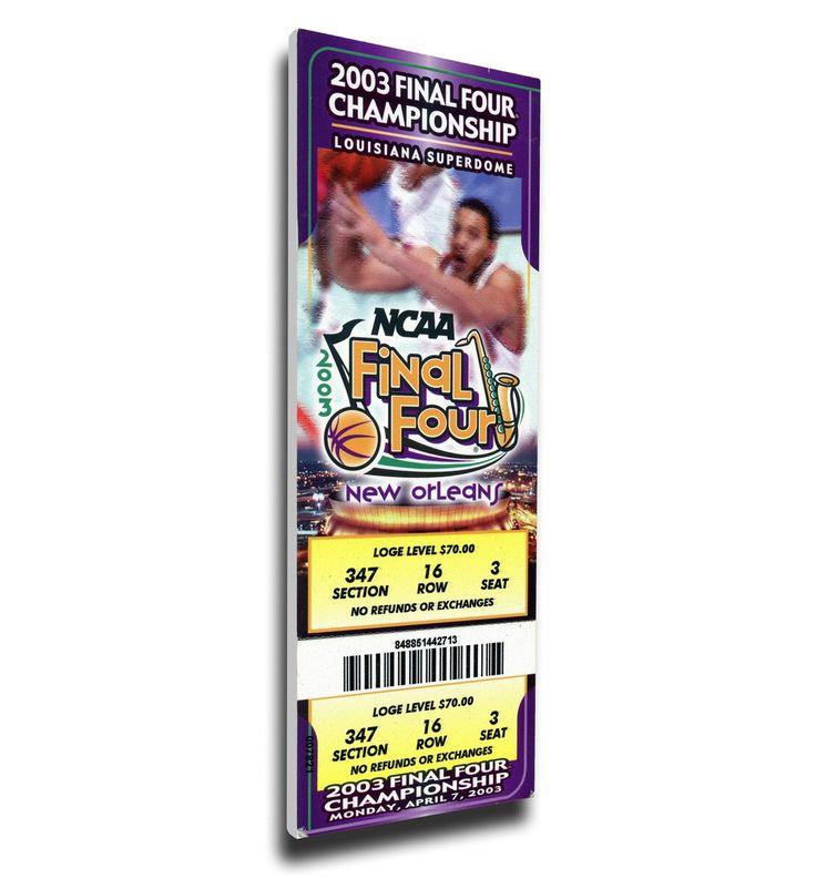 Syracuse Orange Wall Art - 2003 Final Four Canvas Mega Ticket, Carmelo Anthony MOP