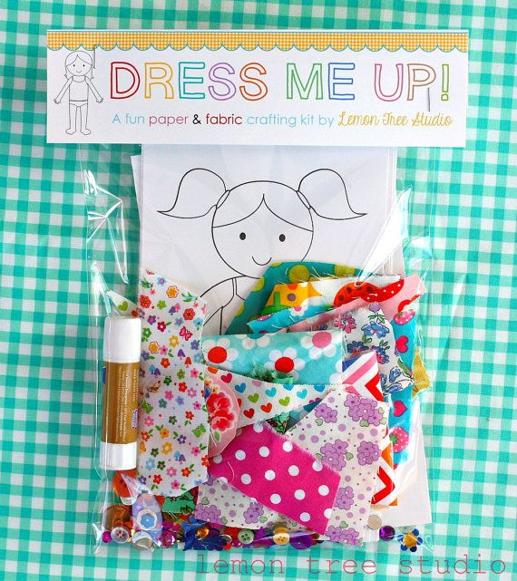 Dress me Up a Fun Paper & Fabric Doll Craft door LemonTreeStudio