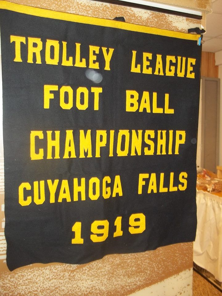 Trolley League was founded in 1919 and included the various sports teams (football, baseball, track, etc.) of schools that were located along the line of the local interurban trolley company. Early members included the Cuyahoga Falls Black Tigers, Kenmore Cardinals, Ravenna Ravens, Kent Roosevelt Rough Riders, Medina Battling Bees and many other teams.  Trolley League disbanded in 1948.