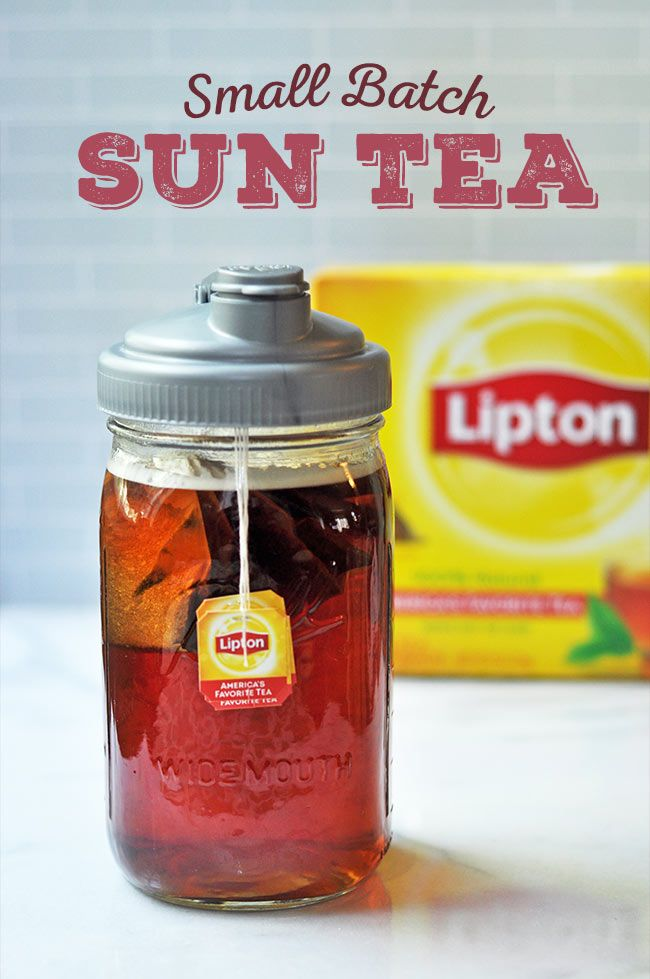 Small Batch Sun Tea using Quart-sized Mason Jar - Backyard Barbecue Recipes #shop #GrillNGear ad