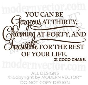 Coco Chanel Quotes   Coco Chanel Quote Vinyl Wall Decal Lettering Irresistible The Rest of ...