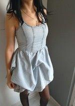 Rewelacyjna sukienka NOWA miss selfridge siwiec mannei jeansowa bombka marszczenia