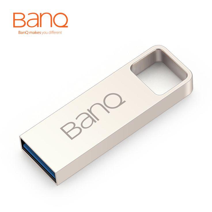 BanQ P60 USB 3.0 100% 64 그램 32 그램 16 그램 USB 플래시 드라이브 패션 금속 방수 Usb 스틱 고속 USB3.0 펜 드라이브 무료 배송