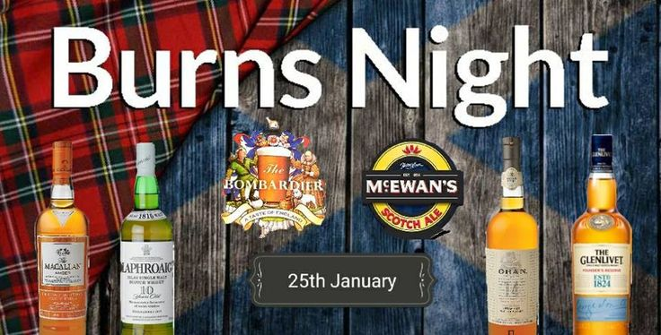 Paris Food & Drink Events: Burns Night @ The Bombardier! January 25 @ 18:00 - January 26 @ 02:00