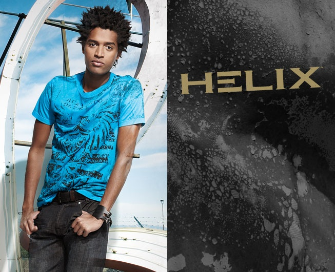 Distinctive Helix Tees. Push the limit of your independent look - teen boys fashion at it best!
