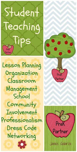 Student Teaching Tips  Early Childhood Education Blog www.prekpartner.com