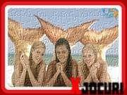 Joc puzzle pe plaja cu sirenele H2O