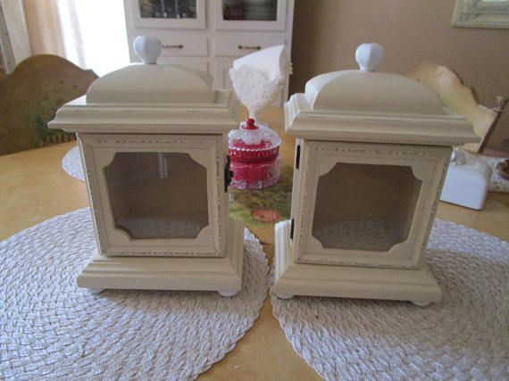 Set of Small Display Cabinets Wood Display Cabinets Glass