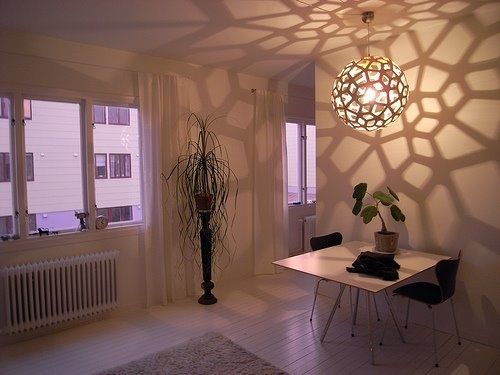 We just love the shadow play and the white on white here. #DavidTrubridge #lighting #ecodesign