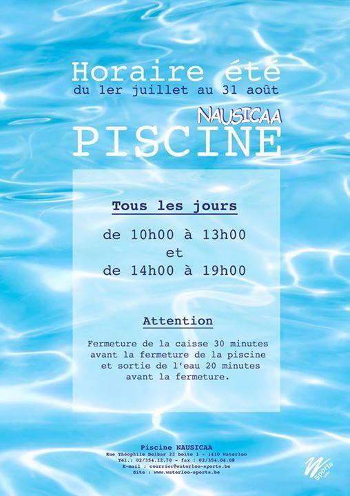La piscine Nausicaa passe à l'horaire d'été.A partir du 1er juillet, la piscine Nausicaa est ouverte, tous les jours, de 10h à 13h et de 14h à 19h !!!  Source   #1er #à #détéA #du #juillet #la #lhoraire #Nausicaa #partir #passe #piscine