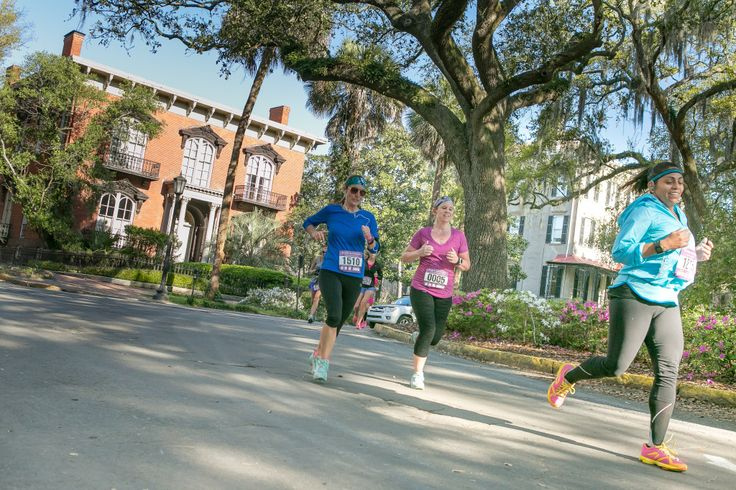Run 13.1 miles of tree-lined streets Run through city squares during the Publix Savannah Women's Half & 5K, scheduled for April 2, 2016.