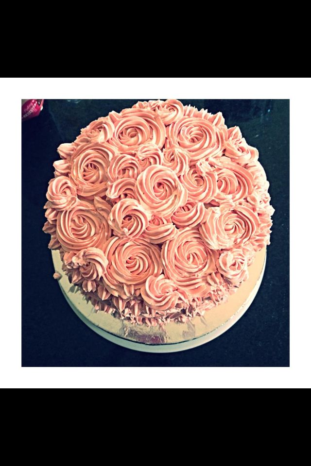 Rose cake from top