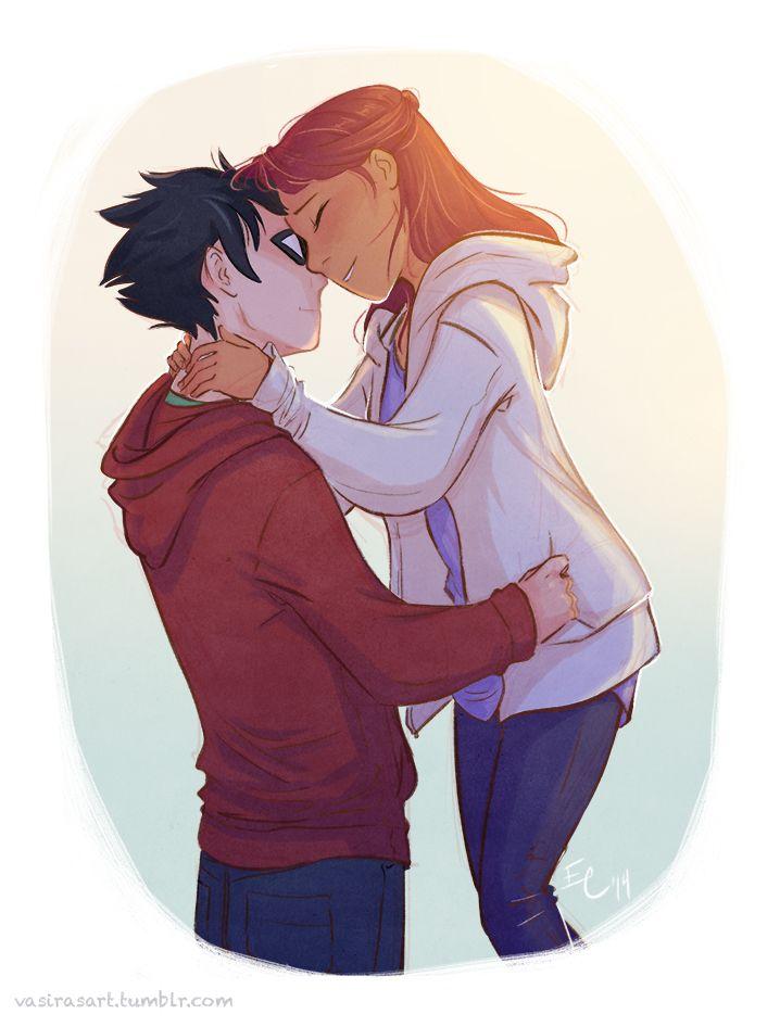Starfire and Robin! Ship it so hard....