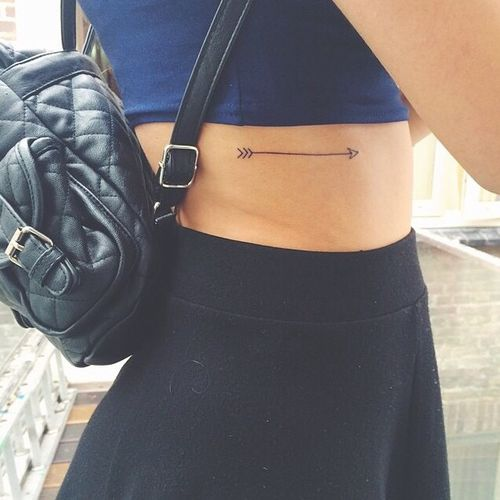 small arrow tattoo #placement #girly #ink