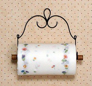 "Wire Victorian Paper Towel Holder/Double Toilet Paper Holder 10.5"" Wire Decor http://www.amazon.com/dp/B005GKCSXQ/ref=cm_sw_r_pi_dp_V.Taxb1TRE0ZE"