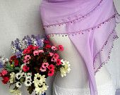 Lilac Soft Turkish Scarf Elegant Cotton Shawl Valentine's day Gift For Her Mother's Day Gift  Europeanstreetteam Craftoriteam