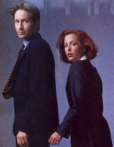 X-files mysteries.Agent Mulder and Scully.