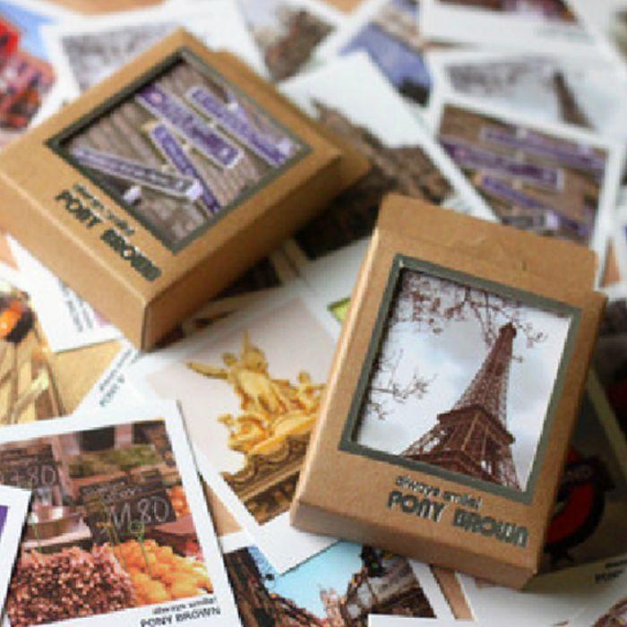 40ピース/パック美しいレトロヨーロッパvistaミニメッセージカードありがとうカード祭りグリーティングカードはがきキッズギフト