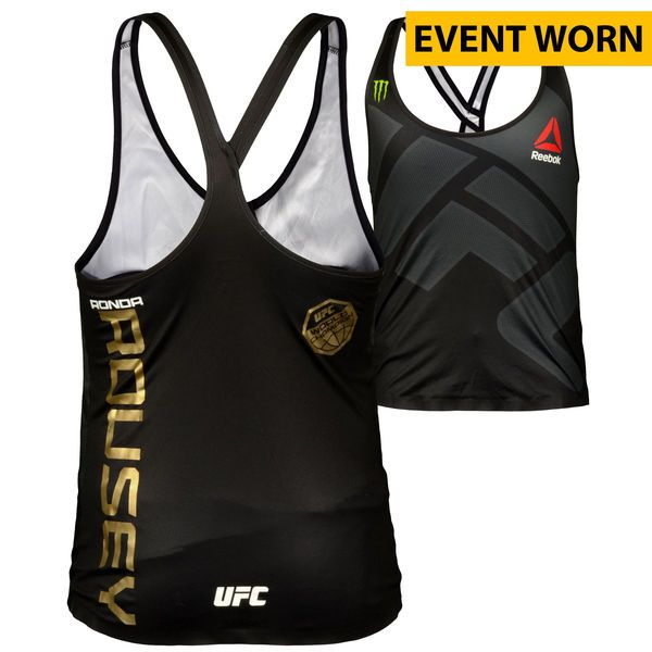 Ronda Rousey Ultimate Fighting Championship Fanatics Authentic UFC 190 Rousey vs. Correia Event-Worn Fight Tank - Defeated Bethe Correia via First Round Knockout to Retain the Women's Bantamweight Championship - $9999.99