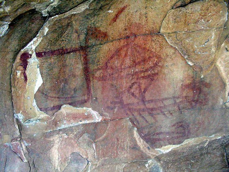 pintura rupestre LA LAJA ALTA Parque Natural de los Alcornocales