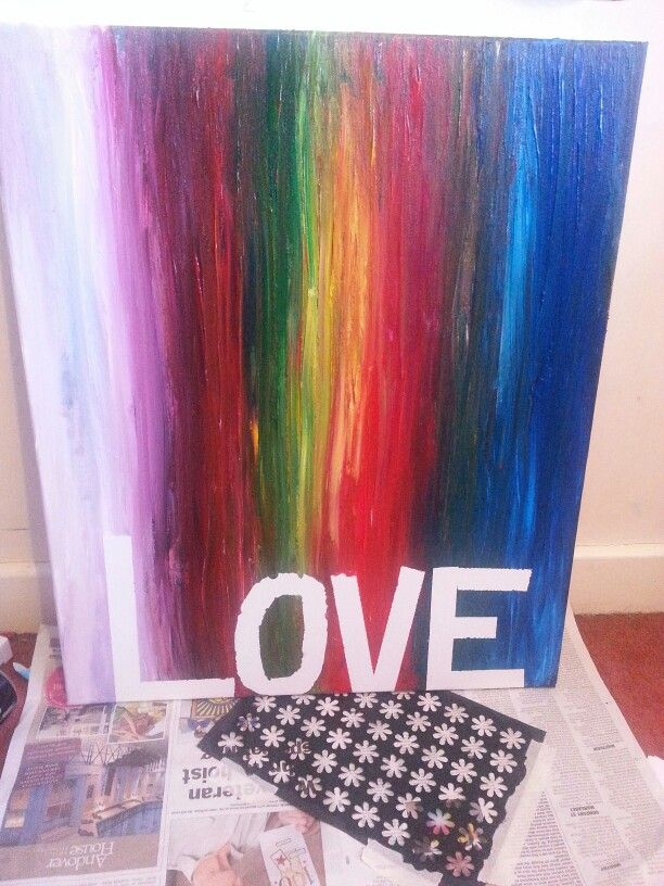Need tidying ans neating but love canvas. Rainbow color