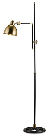 Floor Lamp CURREY & COMPANY DRAYTON Industrial 1-Light Gold Cord Whit CC-432