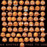 64  emotes pack by TeaR6446 photoshop resource collected by psd-dude.com from deviantart