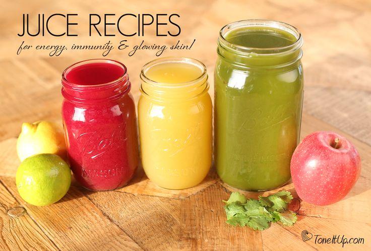 3 Juice Recipes for Energy, Immunity & Glowing Skin!