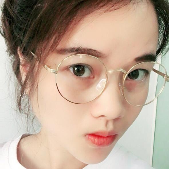 405bd0e2b47 LongKeeper Oversized Korean Round Glasses Frame Clear Lens Women Men Retro  Gold Eyeglass Optic Frame Eyewear Vintage Spectacles