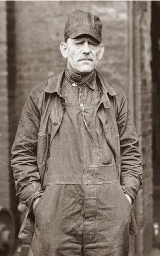 Old photograph | Overalls | Work man | Railroad Rivet-Head