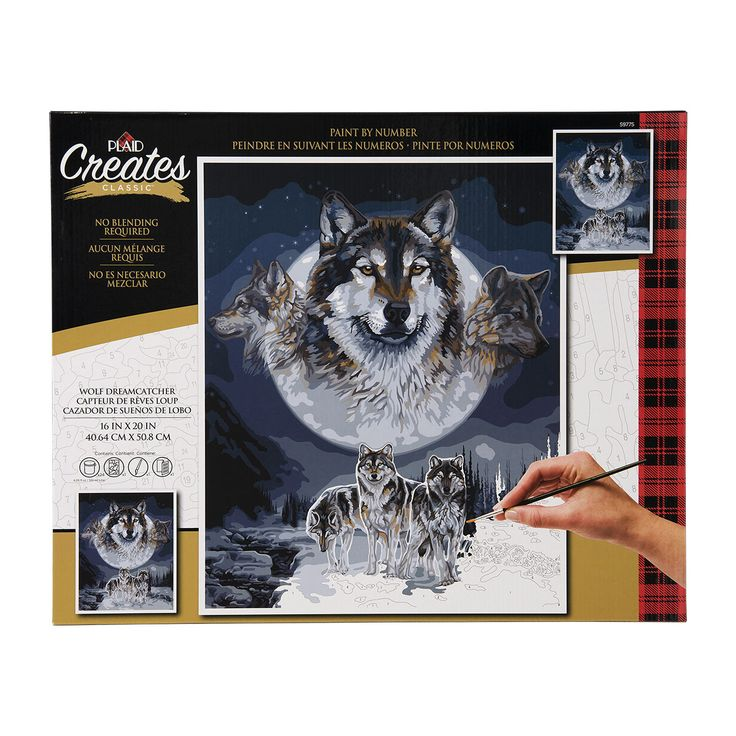 Plaid ® Paint by Number - Wolf Dreamcatcher